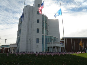 Front of MCC on Veteran's Day Photo By Nathan Cheatham