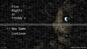 The title screen only adds to the eerie atmosphere. Photo credit: Five Nights at Freddy's wiki