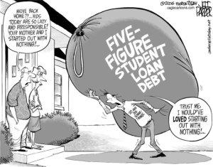 What student debt looks like. Photo Credit: http://strikedebt.org/strike-student-debt/.