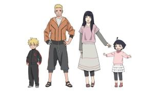 Naruto, Hinata, and their children; Bolt and Himawari. Courtesy of the Latin Times.