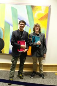 Starting from left to right, music students Noah Negron and Jason Lapierre. Photo by Chris Dibella.
